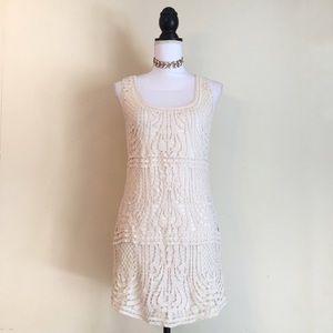 Boho Crochet Shift Dress